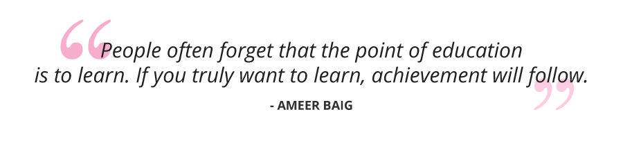 notable achiever getsmarter ameer quote