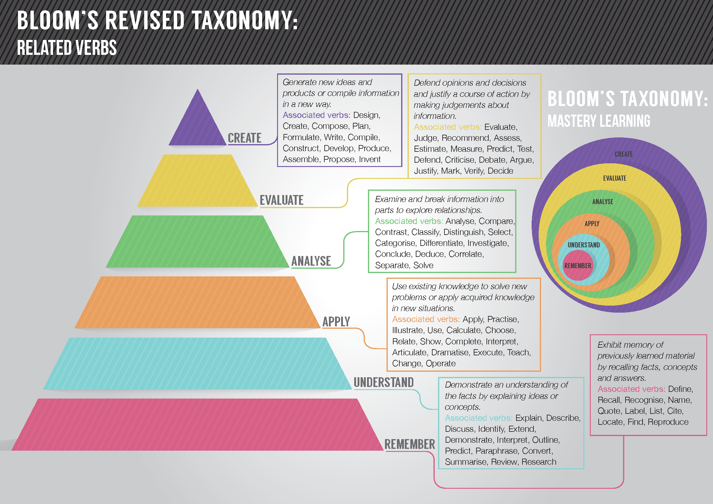 blooms taxonomy 2 essay We will write a custom essay sample on bloom's taxonomy specifically for you for only $1638 $139/page this exercise covers a wide range of the concepts in the cognitive domain of bloom's taxonomy the student demonstrates knowledge by being able to describe an object and defining.