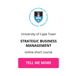 uct strategic business management online short course getsmarter chief technology officer