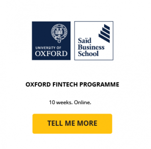 oxford fintech programme course cta card said business school university of oxford getsmarter online short course
