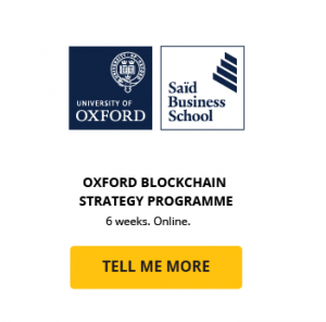 oxford blockchain strategy programme course cta card said business school university of oxford getsmarter online short course
