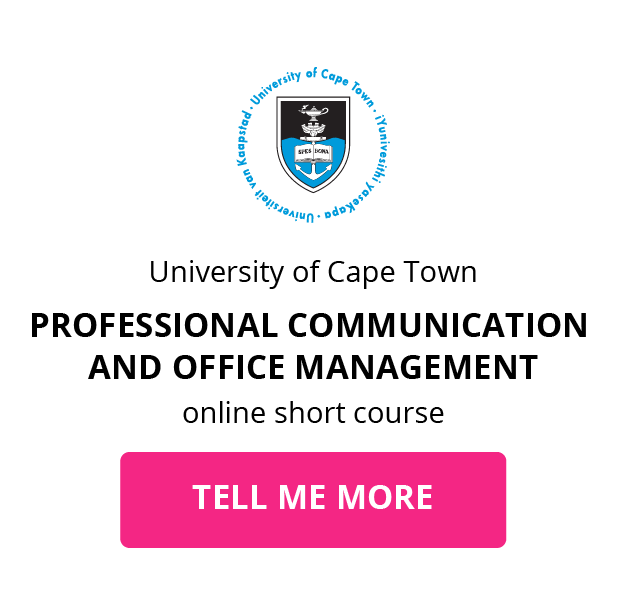 UCT Professional Communication and Office Management GetSmarter