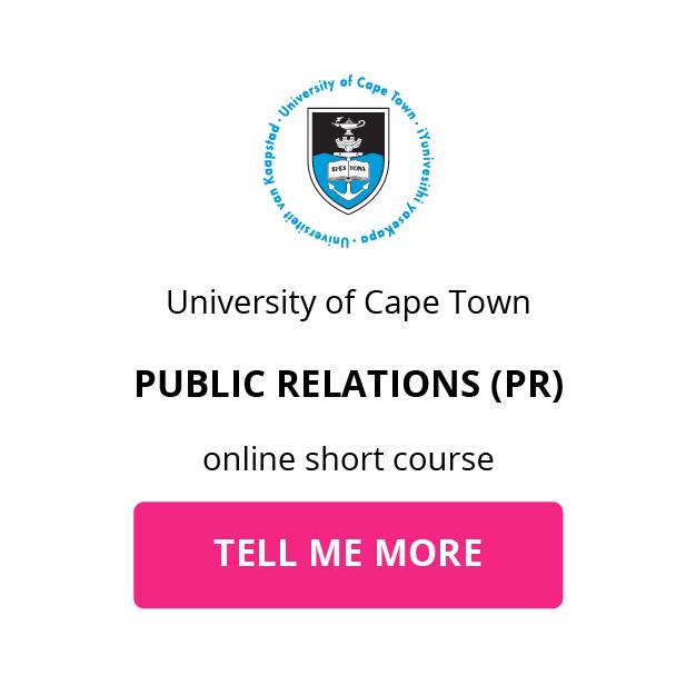 UCT Public Relations GetSmarter