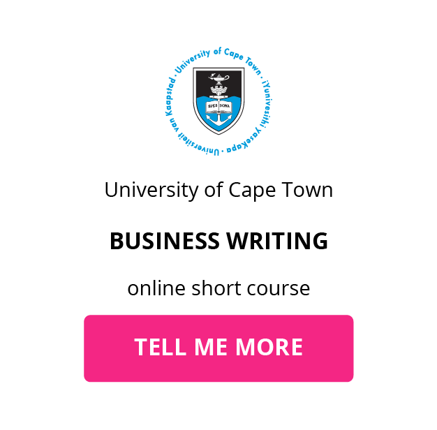 UCT Business Writing GetSmarter