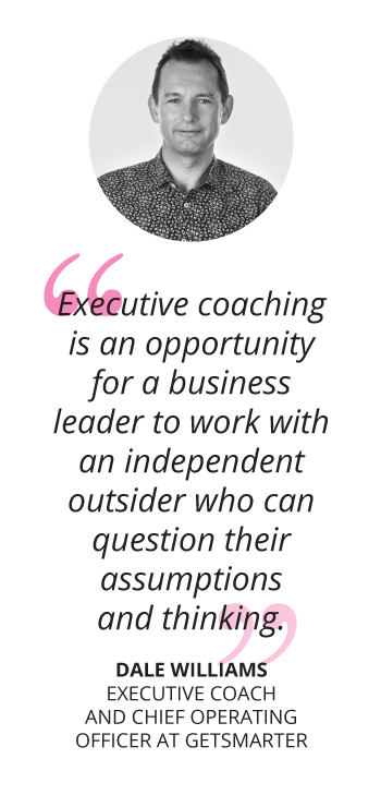 Dale Williams how to become an executive coach getsmarter blog quote mobile