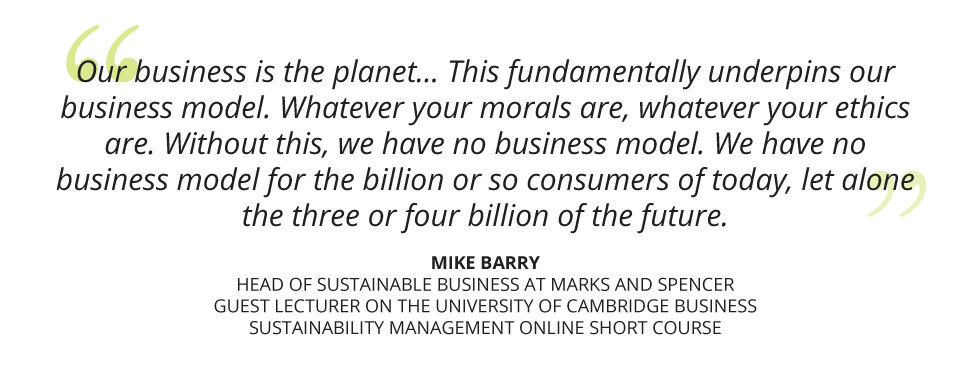 University of Cambridge Business Sustainability Management online short course - Mike Barry