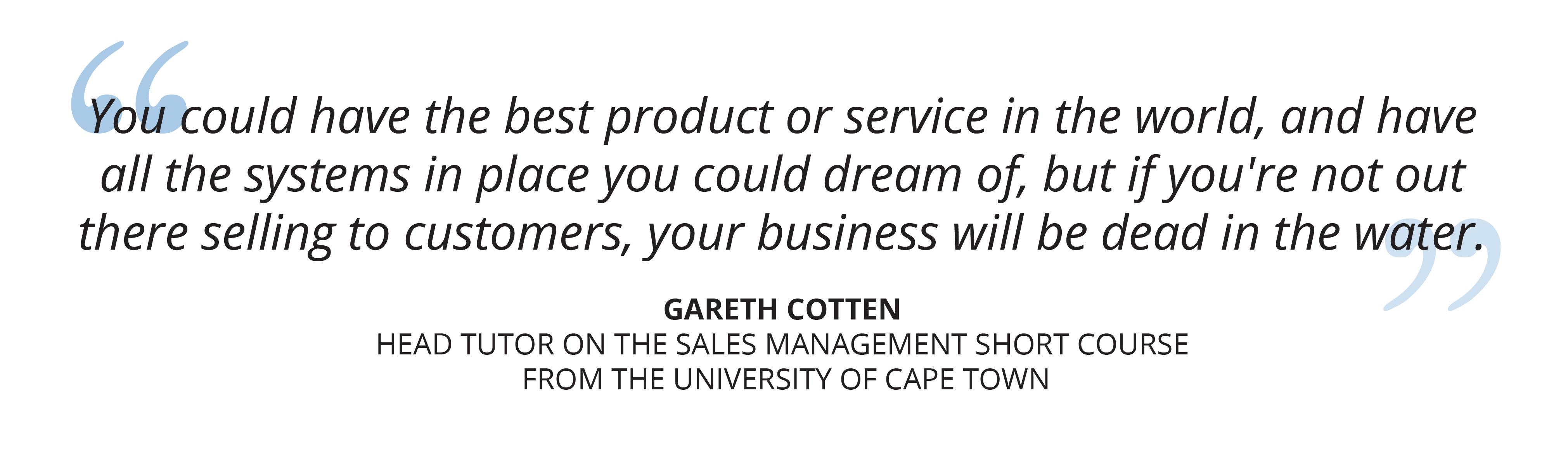 University of Cape Town Sales Management online short course