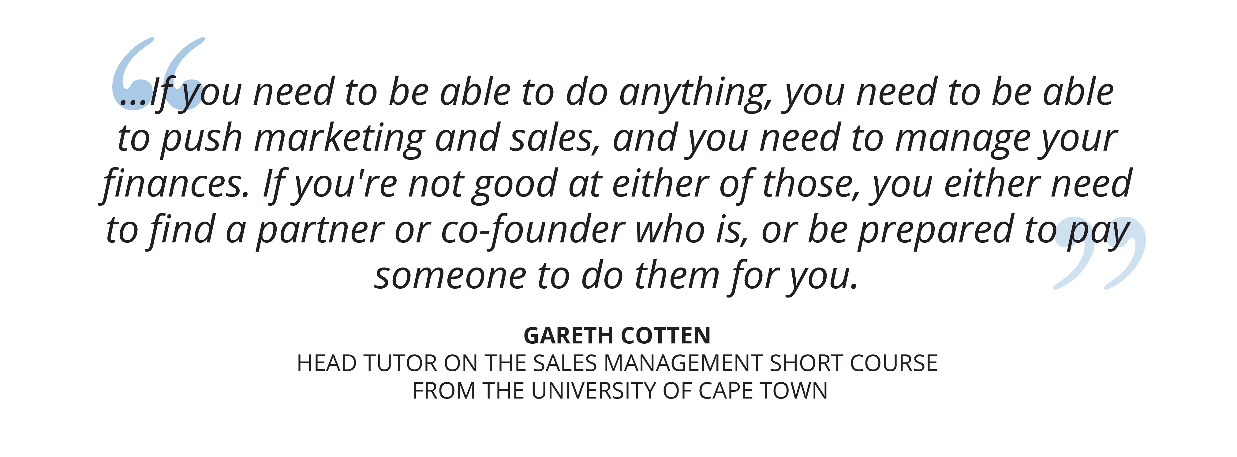 University of Cape Town Sales Management online short course