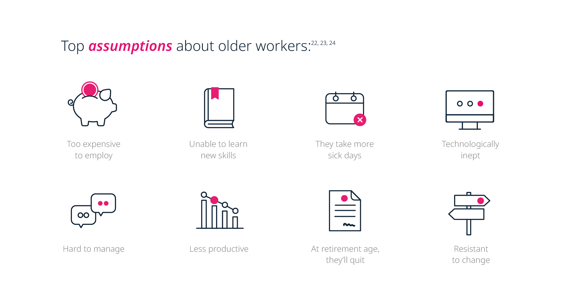 Top assumptions about older professionals in the workforce